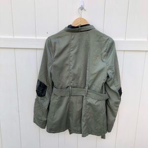 therapy Jackets & Coats - Therapy green military jacket black sz Large